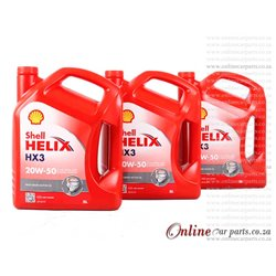 Shell Helix HX3 20W-50 5L Multi-Grade Motor Diesel and Petrol Engines Engine Oil - 1 Case