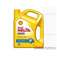 Shell Helix HX5 5L 25W60 Premium Multi-Grade High Mileage Petrol and Diesel Engine Oil