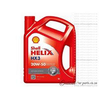 Shell Helix HX3 5L 20W-50 Multi-Grade Motor Diesel and Petrol Engines Engine Oil