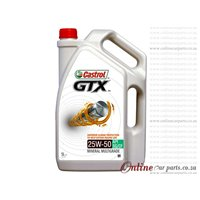 Castrol GTX 5L 25W50 Mineral Multigrade Engine Oil