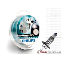 PHILIPS H1 X-TREME VISION HEADLIGHT HEADLAMP BULBS GLOBE +130% BRIGHTER 45 METERS LONGER LIGHT BEAM