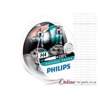 PHILIPS H4 X-TREME VISION HEADLIGHT HEADLAMP BULBS GLOBE +130% BRIGHTER 45 METERS LONGER LIGHT BEAM