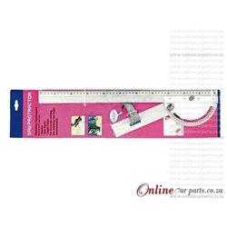 Adjustable Ruler 180 Degree 550mm