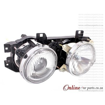 BMW E34 535i 5-Series Left Hand Side Complete In+Out Headlamp Headlight + Bucket 1989-1996