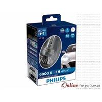 PHILIPS H7 LED X-TREME ULTINON HEADLIGHT BULB LED-HL 6000K +200% ADVANCED BRIGHTER LIGHT