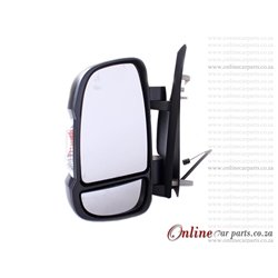 Peugeot Boxer 3.0 HDI Left Hand Side Manual Door Mirror And Lamp 2007-