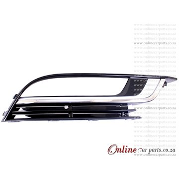 VW Passat CC 2.0 TFSI Right Hand Side Front Bumper Grille With CP Moulding and Fog Light Fog Lamp Holes P3 2012-