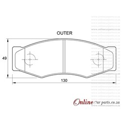 Mazda B Series 97-00 & Drifters 00-03 Front Brake Pads D973