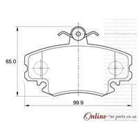 Tata Indica 1.4 B-LINE 55KW 4 Cyl 1405 Eng 2007- Front Brake Pads