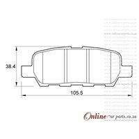 Suzuki Grand Vitara 2.4 122KW J24B 4 Cyl 2393 Eng 2008-2013 Rear Brake Pads