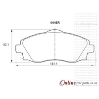 Chevrolet Corsa Utility 1.7 DTi 55KW Y17DT 4 Cyl 1686 Eng 2010-2011 Front Brake Pads