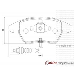 Volkswagen Scirocco 1.4 TSi 1K8 118KW CAVD 4 Cyl 1390 Eng 2009-2015 Front Brake Pads