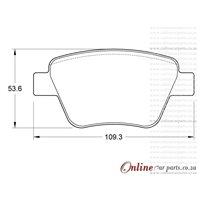 Volkswagen Jetta VI 2.0 TDi 162 103KW CFFB CJAA CLCB 4 Cyl 1968 Eng 2011-2019 Rear Brake Pads