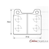 Volkswagen Microbus 2.1i 4 Cyl 2109 Eng 1989-1994 Front Brake Pads