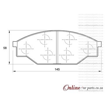 GWM (Great Wall) All Models 07- Front Brake Pads D947