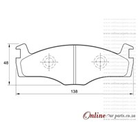 Volkswagen Jetta II 1.8 CLi 4 Cyl 1781 Eng 1985-1992 Front Brake Pads