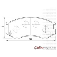 Toyota Condor 3000 D 5L 4 Cyl 2986 Eng 2000-2004 Front Brake Pads