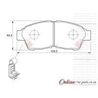 Toyota Camry 200 Si 3SFE 4 Cyl 1998 Eng 1992-2001 Front Brake Pads
