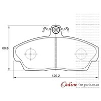 Tata Telcoline 2.0 TDi 64KW DLTC 4 Cyl 1948 Eng 2004-2010 Front Brake Pads