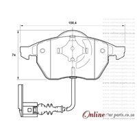 Volkswagen New Beetle 1.8 T 4 Cyl 1781 Eng 2003-2006 Front Brake Pads