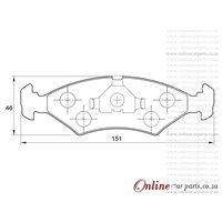 Volvo C30 1.6 74KW B4164S3 4 Cyl 1596 Eng 2008-2012 Front Brake Pads