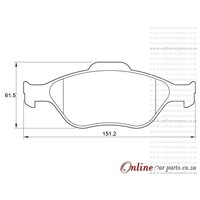 Ford Figo I 1.4i 62KW Duratec 4 Cyl 1388 Eng 2010-2015 Front Brake Pads