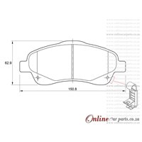 Toyota Avensis 2.2 D-4D ADT251 110KW 2AD-FTV 4 Cyl 2231 Eng 2006-2009 Front Brake Pads