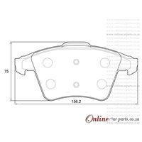 Volkswagen T5 - Transporter 2.0 BiTDi 7E 7F 75KW CAAB 4 Cyl 1968 Eng 2010-2015 Front Brake Pads