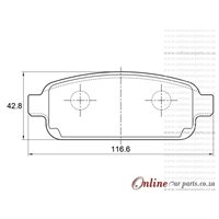 Chevrolet Sonic 1.4 RS 103KW 4 Cyl 1364 Eng 2014-2017 Rear Brake Pads