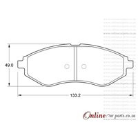 Chevrolet Sonic 1.4 74KW 4 Cyl 1398 Eng 2011-2017 Front Brake Pads
