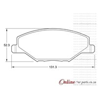 Volkswagen Polo 1.6 6R 77KW CFNA 4 Cyl 1598 Eng 2010- Front Brake Pads