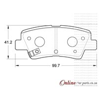 Volkswagen Fox 1.6 4 Cyl 1595 Eng 1987-1995 Front Brake Pads