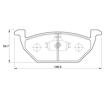 Volkswagen Polo Vivo 1.4 55KW CLPB 4 Cyl 1398 Eng 2010- Front Brake Pads