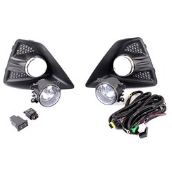 Ford Focus Left + Right Fog Light + Cover + CP FRM + CRS 2010-