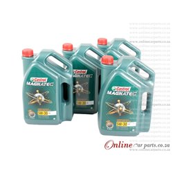 Castrol Magnatec 5W-30 5L Fully Synthetic Technology Petrol and Diesel Engine Oil - 1 CASE