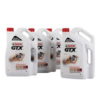 Castrol GTX 20W-50 5L Mineral Multigrade Engine Oil - 1 Case