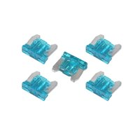 15 Amp Low Profile Mini Blade Fuse - 5 Pieces Pack