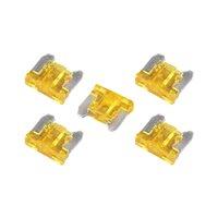 20 Amp Low Profile Mini Blade Fuse - 5 Pieces Pack