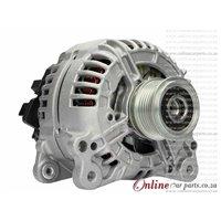 VW EOS 2.0 FSi 04-08 BVY BVZ 140A 12V 6 Groove E8 2 PIN L-DFM Alternator OE 06F903023F 0124525091